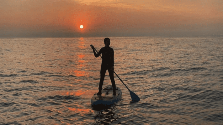 Bluefin working on perfecting your sup technique