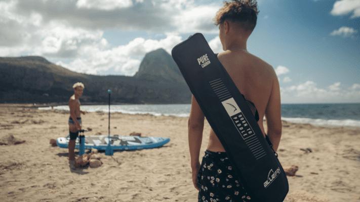 Bluefin beginner paddleboarder